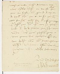 BRETAGNE Philippe de MONTAUBAN (vers 1455-1514) chancelier de Bretagne et conseiller d'Anne de Bretagne. L.A.S., Nantes, à M. de ROH..