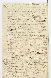 François-Joseph BROUSSAIS (1772-1838) médecin. P.A. (brouillon), 4 décembre 1826 ; 1 page et demie in-fol. CONSULTATION POUR LA DU...