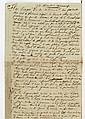 François-Joseph BROUSSAIS. P.A. (brouillon), 10 décembre 1826 ; 1 page in-fol. au dos d'un état de mouvement de l'hôpital militaire .