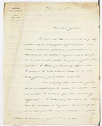 Thomas BUGEAUD (1784-1849) maréchal. L.S., Paris 9 septembre 1846, au lieutenant général baron de GALBOIS ; 2 pages et demie in-4, e...