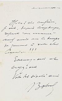 DIVERS. 8 L.A.S., 1811-1909. Théodore BOTREL (au dos d'un programme), Félix FAURE, Émile de GIRARDIN (1855 sur des opérations bour...