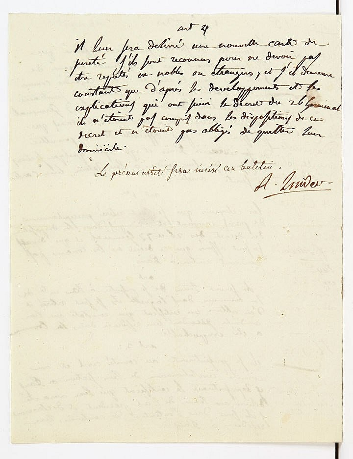 Robert LINDET (1746-1825) conventionnel (Eure), membre du Comité de Salut public. P.A.S., 1er fructidor (II : 18 août 1794) ; 1 page...