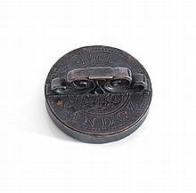 Édouard Marcel SANDOZ (1881-1971) Cachet en bronze daté 1961 Diamètre: 6,5 cm