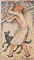 Maurice DENIS (1870-1943) Saint François recevant les stigmates, 1921 Encre, lavis et gouache blanche sur papier calque, porte une s...