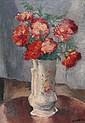 Charles KVAPIL (1884-1957) Bouquet de fleurs Huile sur toile signée en bas à droite 55 × 38,5 cm