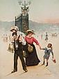 Henri BRISPOT (1846-1928) La colère Aquarelle, signé en bas à droite 51 × 39 cm (Rousseurs)