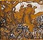 Nicolas EEKMAN (1889-1973) L'échelle, 1939 Huile sur panneau signé, daté et numéroté XVIII vers le bas à droite, titré au dos 33 × 1..