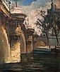 Georges Guido FILIBERTI (1881-1970) Le Pont Neuf Huile sur panneau signé en bas à gauche et daté 1933 46 × 38 cm