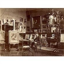 Edmond BÉNARD (1838-1907) Le peintre Tony ROBERT-FLEURY dans son atelier, années 1880-1900