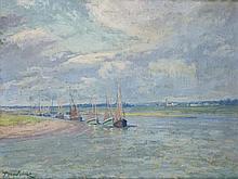 Paul MADELINE (1863-1920) Voiliers dans la rade Huile sur toile signée en bas à gauche 50 × 65 cm Provenance : Galerie Marcel Bernhe...