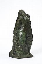 Henri GAUDIER-BRZESKA (1891-1915) Figure féminine en pied, 1913 Bronze à patine verte nuancé de brun Inscription au dos en creux HEN...