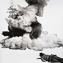 John Baldessari (né en 1931)Smoke, Tree, Shadow and Person, 2011