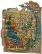 Deux enluminures sur parchemin provenant d'une même grande bible