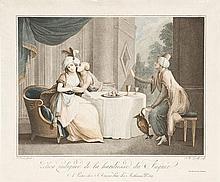 D'après Salvatore TRESCA (1750-1815) Zélica indignée de la hardiesse du Fakir