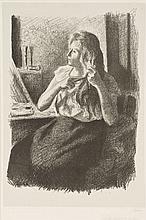 Maximilien LUCE (1858-1941) Jeune femme se coiffant (Stein & Karshan 42)
