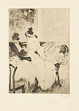 Louis LEGRAND (1863-1851) En passant ; Incognito ; Entrée de scène ; Jeune femme se coiffant ; La négresse ; Le 850pochard Ens...