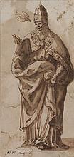 Attribué à Cesare NEBBIA (Circa 1536-1614) Saint Grégoire le Grand