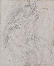 Attribué à Giovanni LANFRANCO (1582-1647) Le Christ couronné d'épines