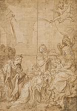 École de CREMONE de la fin du XVIe siècle L'adoration des mages