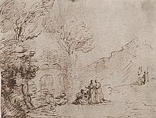 Dans le goût du GUERCHIN (1712-1790) Deux paysages animés