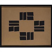 ƒ Hélio Oiticica (1937-1980) Metaesquema Gouache sur carton Signé et daté au dos Date de création : 1958 47,5 × 59 cm Pr...