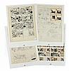 Planche 27 de L'Affaire Tournesol. Sérigraphies. Ensemble complet de 4 sérigraphies (42 x 60 cm) éditées par la Fondation Hergé : 1...