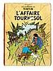 Les Aventures de Tintin / L'Affaire Tournesol. Dessin original représentant Tintin et Milou en bustes accompagné d'un splendide envo.