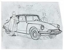 La Castafiore en Citroën D