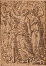Louis-Félix de LA RUE (Paris 1720-1765) Bacchanale Plume et encre brune, lavis brun 21×14,5 cm Signé en bas à droite (Insolé, petite...