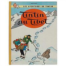 * Tintin au Tibet1960. Dos carré toilé jaune sans