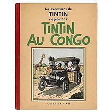 Tintin au CongoCasterman. Album en noir et blanc.