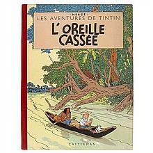 L'Oreille casséeCasterman. 2e plat B8, 1953.