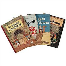 Quatre albums KuifjEnsemble de 4 albums Tintin/Kuifj en