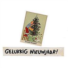 Lettrage original par HergéLettrage pour une carte de vœux