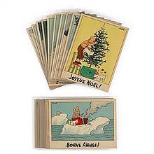 Collection complète des 25« Cartes neige »