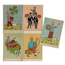 5 Cartes festivesEnsemble de cinq cartes postales
