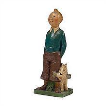 Statuette Tintin de 1949Statuette dite « en bois plastique »