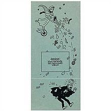 Carte de vœux 1940Corne d'abondance