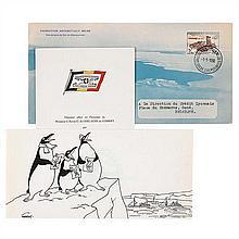 Carte de vœux 1957Expédition Antarctique belge