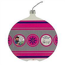 Carte de vœux 1968Boule de Noël