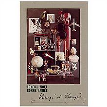 Carte de vœux 1969Le Musée imaginaire de Tintin