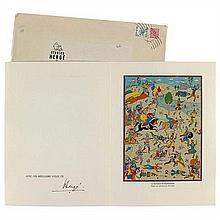 Carte de vœux 1977La Bataille de Zileheroum