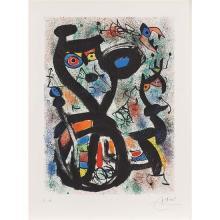 Joan Miro (1890-1980)Le Chat - 1969