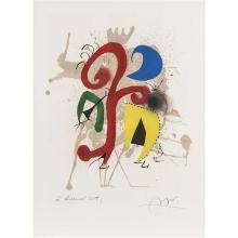 Joan Miro (1890-1980)Jardin au clair de lune - Hommage à Tériade - 1973