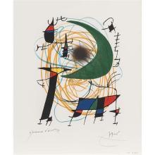Joan Miro (1890-1980)La lune verte - 1972