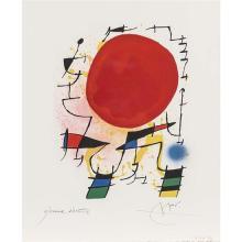 Joan Miro (1890-1980)Le soleil rouge - 1972