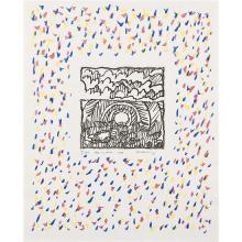 Pierre Alechinsky (né en 1927) Trois estampes originales Arc en Terre, 1979 - Eau-forte en noir, le tour en lithographie en couleurs...