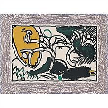 Pierre Alechinsky (né en 1927)Deux lithographies originales