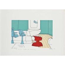 Ensemble de trois lithographies signées :- Valerio Adami (né en 1935)