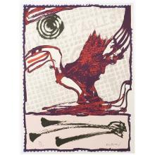 Pierre Alechinsky (né en 1927) Composition - circa 1980 Lithographie en couleurs, signée et numérotée 50/120 60 x 45,1 cm On...